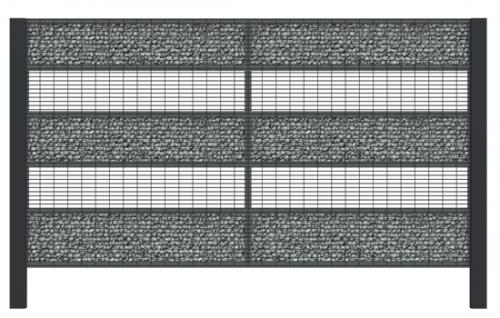 nowoczesne ogrodzenia katowice gabion slupy