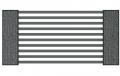 palisada z dużą przerwą w słupach gabionowych lucca solid